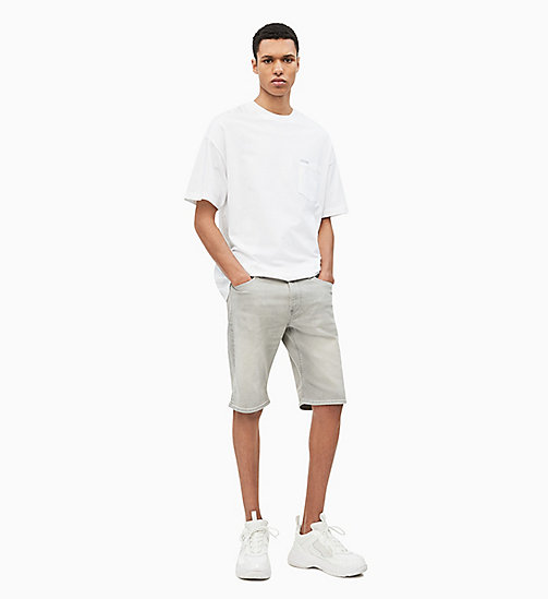 CALVIN KLEIN JEANS Slim Fit Denim-Shorts - MARIO GREY - CALVIN KLEIN JEANS DENIM SHOP - main image 1