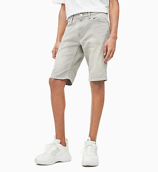 CALVIN KLEIN JEANS Slim Fit Denim-Shorts - MARIO GREY - CALVIN KLEIN JEANS DENIM SHOP - main image