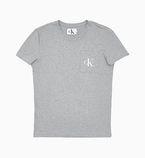 CALVIN KLEIN JEANS Slim Organic Cotton T-shirt - GREY HEATHER - CALVIN KLEIN JEANS NEW IN - main image