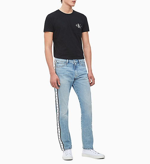 CALVIN KLEIN JEANS Slim Organic Cotton T-shirt - CK BLACK - CALVIN KLEIN JEANS NEW IN - detail image 1