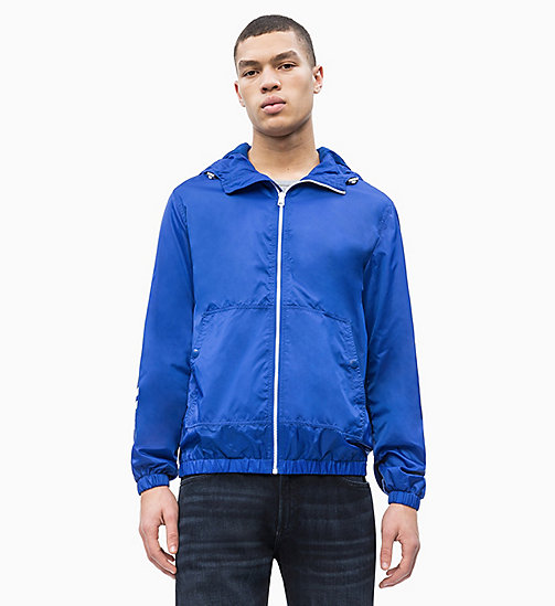 CALVIN KLEIN JEANS Hooded Nylon Logo Jacket - SURF THE WEB - CALVIN KLEIN JEANS LOGO SHOP - main image