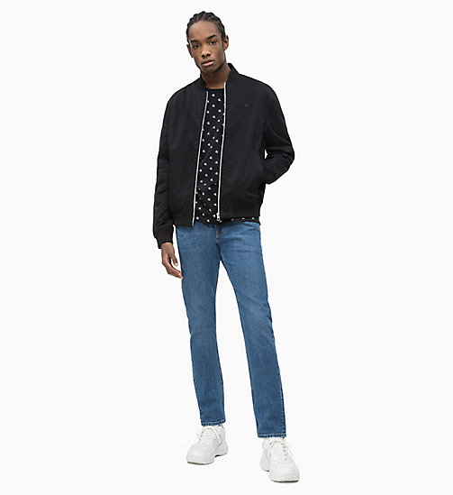 CALVIN KLEIN JEANS Cotton Twill Bomber Jacket - CK BLACK - CALVIN KLEIN JEANS NEW IN - detail image 1