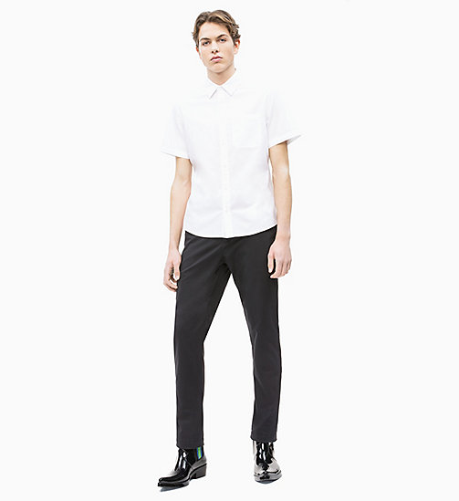 CALVIN KLEIN JEANS Oxford Cotton Short-Sleeve Shirt - BRIGHT WHITE - CALVIN KLEIN JEANS NEW IN - detail image 1
