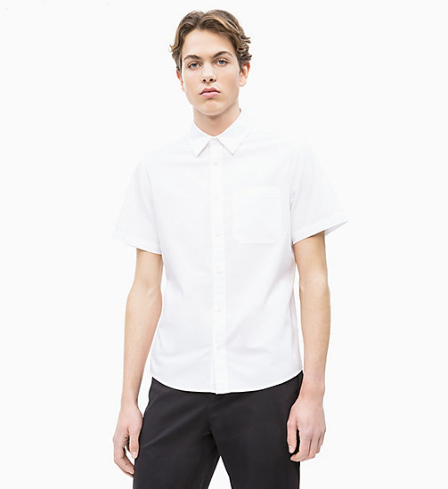 CALVIN KLEIN JEANS Oxford Cotton Short-Sleeve Shirt - BRIGHT WHITE - CALVIN KLEIN JEANS NEW IN - main image