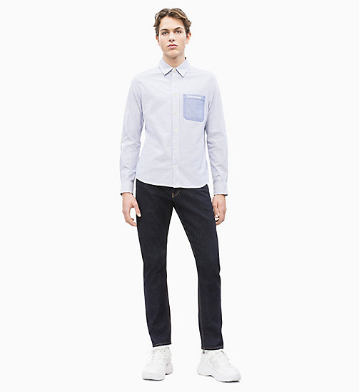 CALVIN KLEIN JEANS Oxford Cotton Stripe Shirt - SURF THE WEB - CALVIN KLEIN JEANS NEW IN - detail image 1