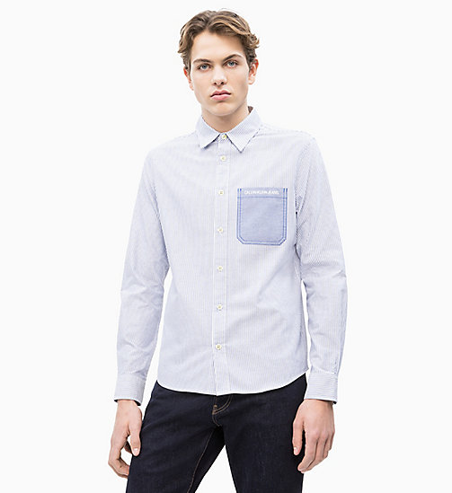 CALVIN KLEIN JEANS Oxford Cotton Stripe Shirt - SURF THE WEB - CALVIN KLEIN JEANS NEW IN - main image