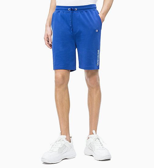 CALVIN KLEIN JEANS Jogging-Shorts aus Baumwoll-Frottee - SURF THE WEB - CALVIN KLEIN JEANS NEW IN - main image