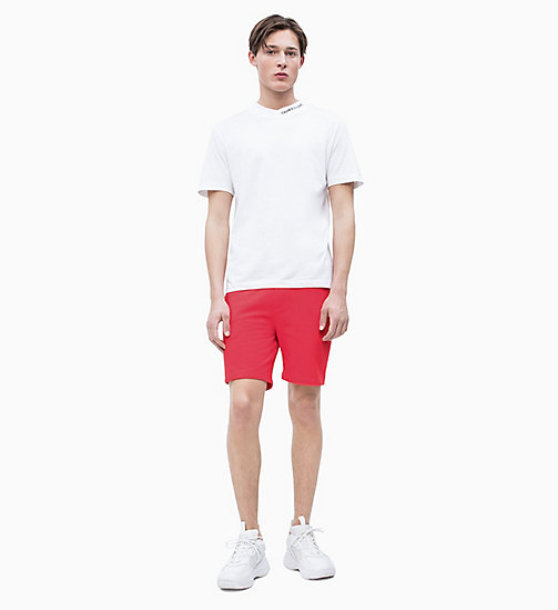 CALVIN KLEIN JEANS Jogging-Shorts aus Baumwoll-Frottee - RACING RED - CALVIN KLEIN JEANS NEW IN - main image 1
