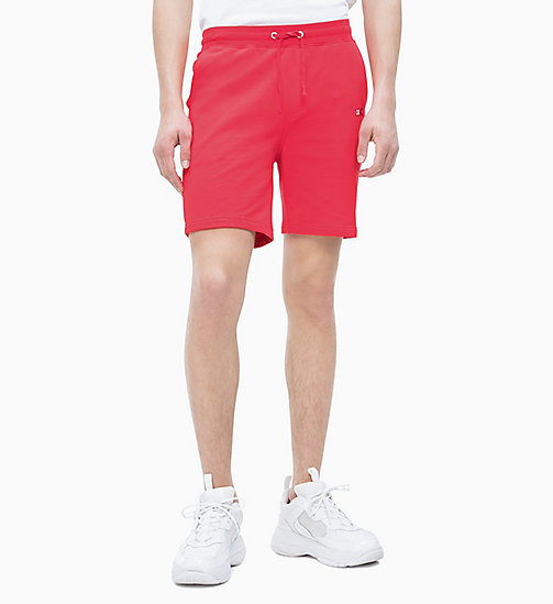 CALVIN KLEIN JEANS Jogging-Shorts aus Baumwoll-Frottee - RACING RED - CALVIN KLEIN JEANS NEW IN - main image