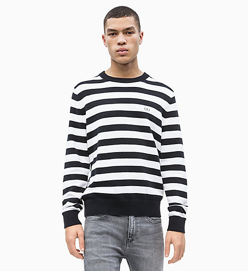 CALVIN KLEIN JEANS Block Stripe Jumper - CK BLACK / BRIGHT WHITE - CALVIN KLEIN JEANS NEW IN - main image