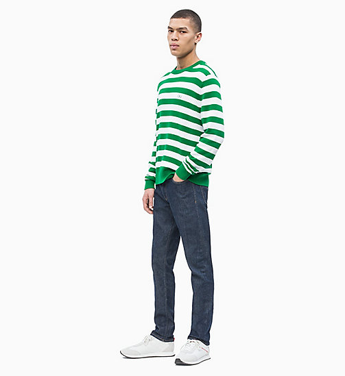 CALVIN KLEIN JEANS Block Stripe Jumper - GREEN/BRIGHT WHITE - CALVIN KLEIN JEANS NEW IN - detail image 1