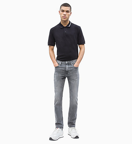 CALVIN KLEIN JEANS Cotton Piqué Logo Collar Polo - CK BLACK - CALVIN KLEIN JEANS NEW IN - detail image 1