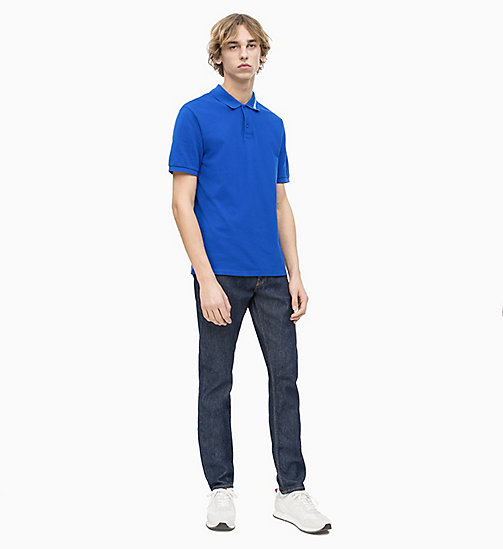 CALVIN KLEIN JEANS Cotton Piqué Logo Collar Polo - SURF THE WEB - CALVIN KLEIN JEANS LOGO SHOP - detail image 1
