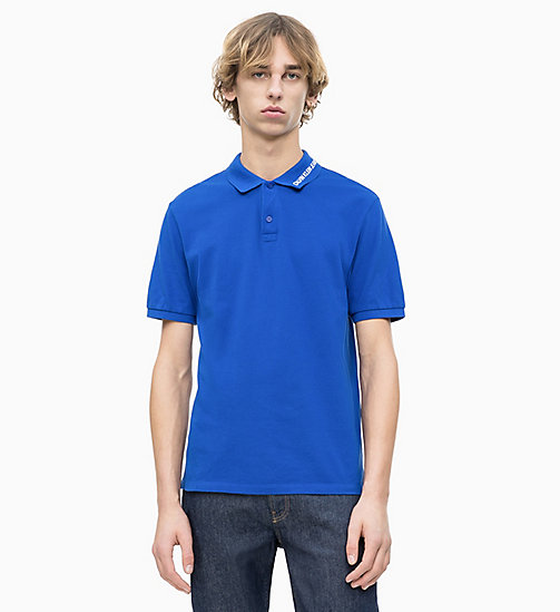 CALVIN KLEIN JEANS Cotton Piqué Logo Collar Polo - SURF THE WEB - CALVIN KLEIN JEANS LOGO SHOP - main image