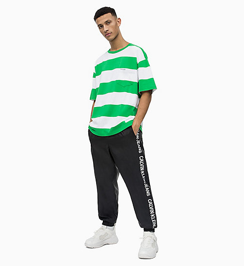 CALVIN KLEIN JEANS Block Stripe T-shirt - JOLLY GREEN/BRIGHT WHITE - CALVIN KLEIN JEANS NEW IN - detail image 1