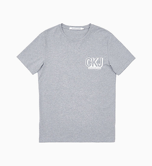 CALVIN KLEIN JEANS Slim Logo T-shirt - GREY HEATHER / BRIGHT WHITE - CALVIN KLEIN JEANS NEW IN - main image