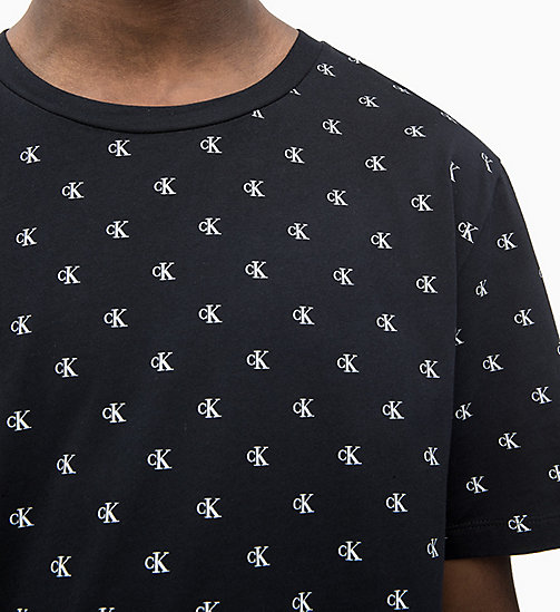 CALVIN KLEIN JEANS All-Over Logo T-shirt - CK BLACK - CALVIN KLEIN JEANS LOGO SHOP - detail image 1