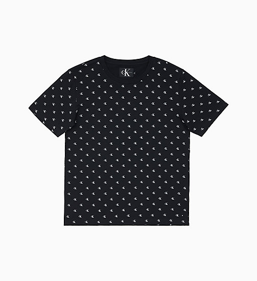 CALVIN KLEIN JEANS All-Over Logo T-shirt - CK BLACK - CALVIN KLEIN JEANS LOGO SHOP - main image