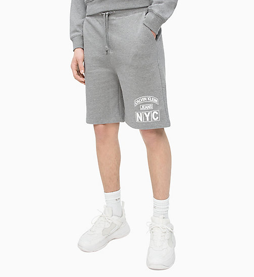 CALVIN KLEIN JEANS Varsity Jogging-Shorts - GREY HEATHER - CALVIN KLEIN JEANS NEW IN - main image