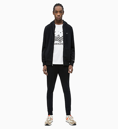 CALVIN KLEIN JEANS Zip-Through Hoodie - CK BLACK - CALVIN KLEIN JEANS NEW IN - detail image 1