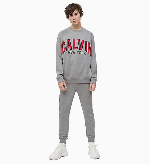 CALVIN KLEIN JEANS Slim Joggers - GREY HEATHER - CALVIN KLEIN JEANS NEW IN - detail image 1