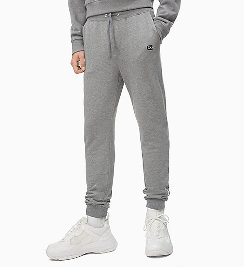 CALVIN KLEIN JEANS Slim Joggers - GREY HEATHER - CALVIN KLEIN JEANS NEW IN - main image
