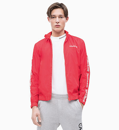 CALVIN KLEIN JEANS Trainingsjacke aus Nylon - RACING RED - CALVIN KLEIN JEANS LOGO SHOP - main image