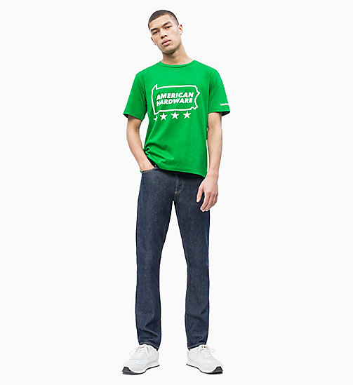 CALVIN KLEIN JEANS Printed T-shirt - JOLLY GREEN - CALVIN KLEIN JEANS NEW IN - detail image 1