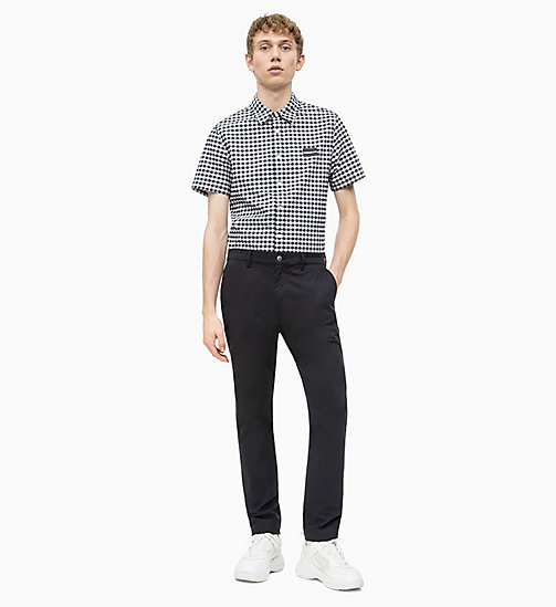 CALVIN KLEIN JEANS Short-Sleeve Gingham Check Shirt - CK BLACK / BRIGHT WHITE - CALVIN KLEIN JEANS NEW IN - detail image 1