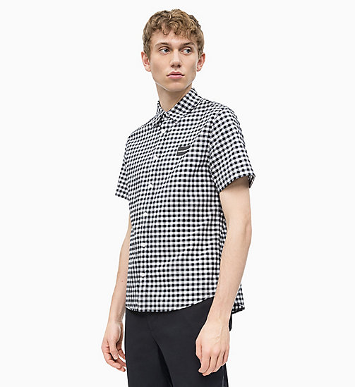 CALVIN KLEIN JEANS Short-Sleeve Gingham Check Shirt - CK BLACK / BRIGHT WHITE - CALVIN KLEIN JEANS NEW IN - main image
