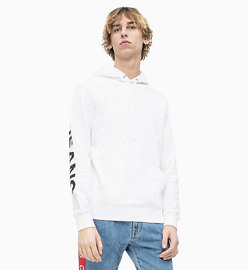 NOUVEAU CALVIN KLEIN JEANS Sweat-shirt à capuche avec logo - BRIGHT WHITE   CK  BLACK ... 8928702ec66