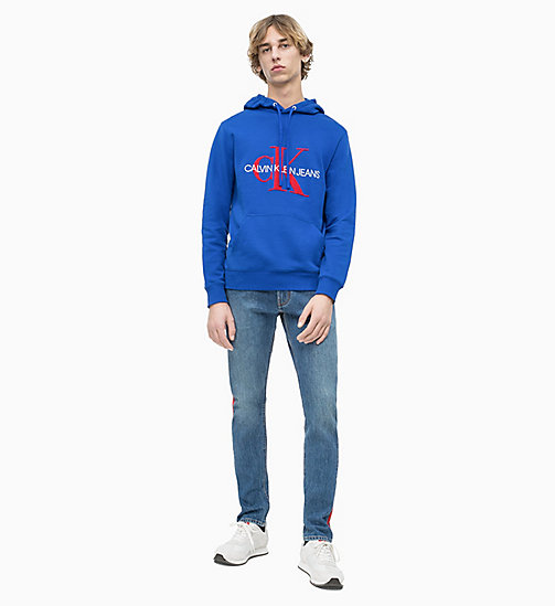CALVIN KLEIN JEANS Towelling Logo Hoodie - SURF THE WEB - CALVIN KLEIN JEANS LOGO SHOP - detail image 1
