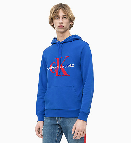 CALVIN KLEIN JEANS Towelling Logo Hoodie - SURF THE WEB - CALVIN KLEIN JEANS LOGO SHOP - main image
