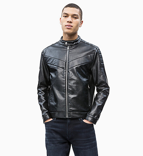 CALVIN KLEIN JEANS Moto Racer Jacket - CK BLACK - CALVIN KLEIN JEANS NEW IN - main image
