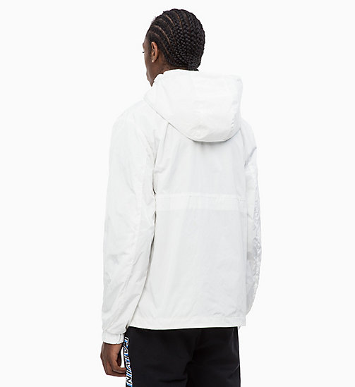 CALVIN KLEIN JEANS Logo Pullover Jacket - BRIGHT WHITE - CALVIN KLEIN JEANS CALVIN KLEIN JEANS CAPSULE - detail image 1