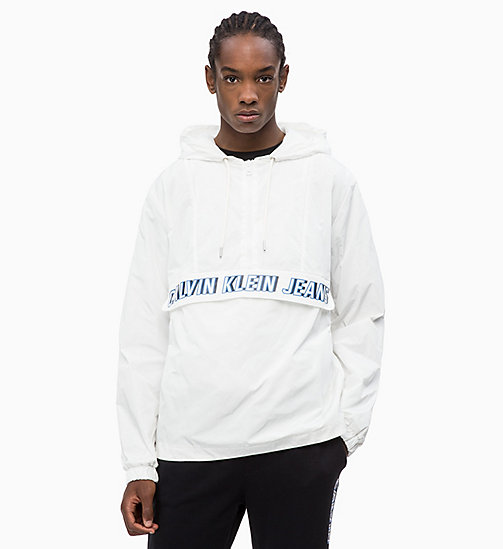 CALVIN KLEIN JEANS Logo Pullover Jacket - BRIGHT WHITE - CALVIN KLEIN JEANS CALVIN KLEIN JEANS CAPSULE - main image