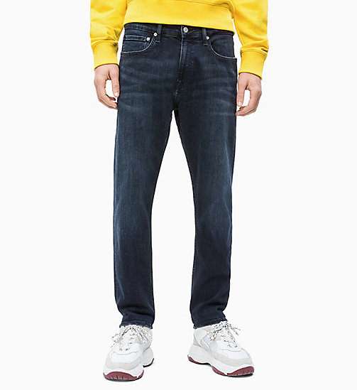 CALVIN KLEIN JEANS CKJ 056 Athletic Taper Jeans - MALI BLUE BLACK - CALVIN KLEIN JEANS CLOTHES - main image