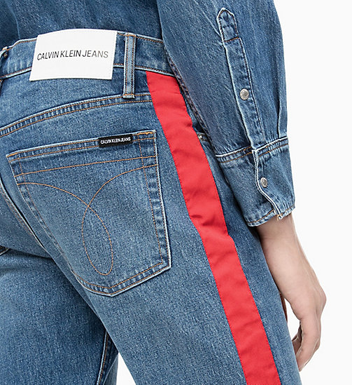 CALVIN KLEIN JEANS CKJ 026 Slim Side-Stripe Jeans - MID STONE AND RED STRIPE - CALVIN KLEIN JEANS DENIM SHOP - detail image 1