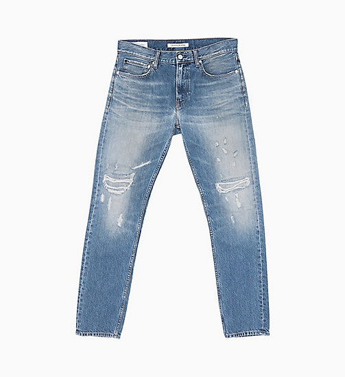 CALVIN KLEIN JEANS CKJ 026 Slim Distressed Jeans - TROUBLE BLUE - CALVIN KLEIN JEANS NEW IN - main image