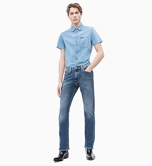 CALVIN KLEIN JEANS CKJ 035 Straight Jeans - TOM BLUE - CALVIN KLEIN JEANS NEW IN - detail image 1