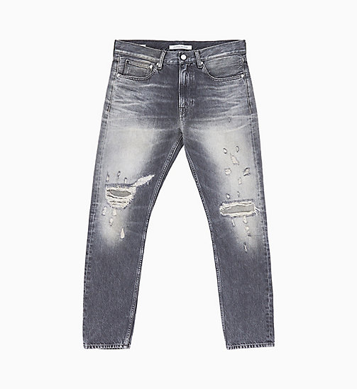 CALVIN KLEIN JEANS CKJ 056 Athletic Tapered Jeans - TROUBLE GREY - CALVIN KLEIN JEANS DENIM SHOP - main image