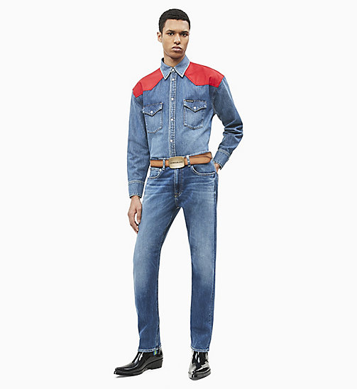 CALVIN KLEIN JEANS CKJ 056 Athletic Tapered Jeans - TENNESSE BLUE - CALVIN KLEIN JEANS NEW IN - detail image 1