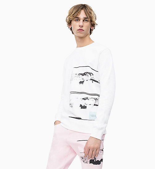 CALVIN KLEIN JEANS Andy Warhol Photo Art Sweatshirt - BRIGHT WHITE - CALVIN KLEIN JEANS ANDY WARHOL - main image