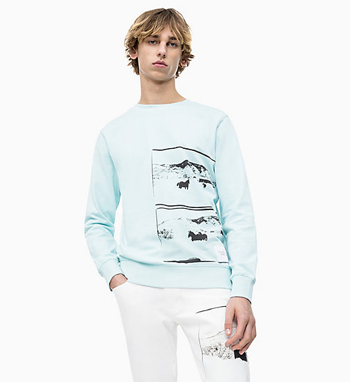 CALVIN KLEIN JEANS Andy Warhol Photo Art Sweatshirt - CORYDALIS BLUE - CALVIN KLEIN JEANS ANDY WARHOL - main image