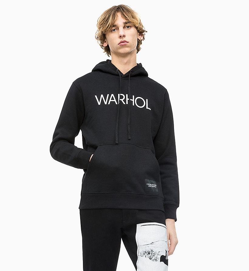 c390dd318ff200 Felpa con cappuccio e logo Andy Warhol da intimo da uomo Calvin Klein® |  J30J312032099