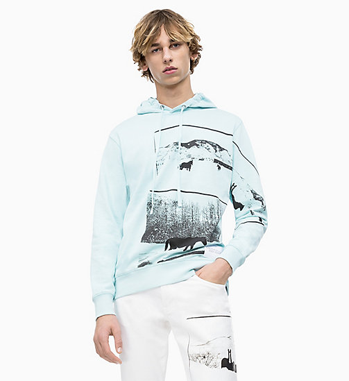 CALVIN KLEIN JEANS Andy Warhol Photo Art Hoodie - CORYDALIS BLUE - CALVIN KLEIN JEANS ANDY WARHOL - main image