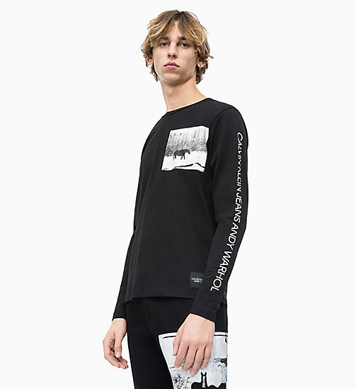 CALVIN KLEIN JEANS Andy Warhol Long Sleeve T-shirt - CK BLACK - CALVIN KLEIN JEANS ANDY WARHOL - main image
