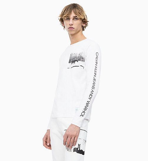 CALVIN KLEIN JEANS Andy Warhol Long Sleeve T-shirt - BRIGHT WHITE - CALVIN KLEIN JEANS ANDY WARHOL - main image