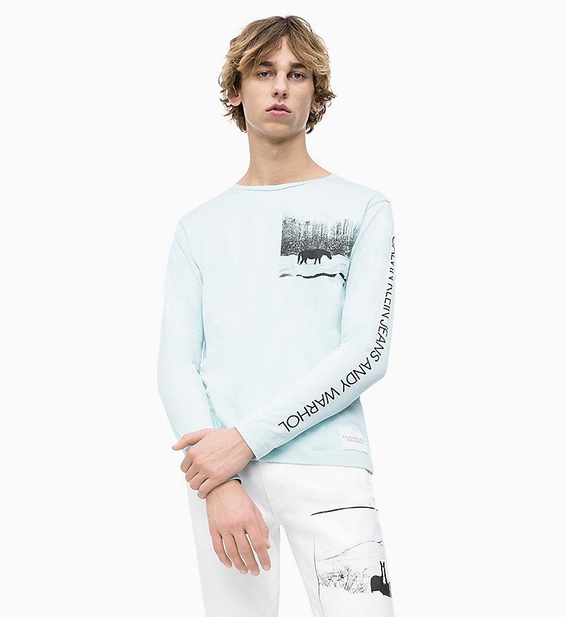 Langärmliges Andy Warhol T Shirt Calvin Klein J30j312037404