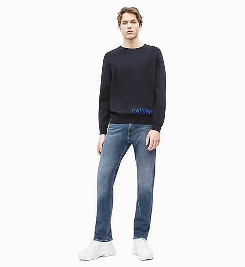 CALVIN KLEIN JEANS Cotton Knit Logo Jumper - NIGHT SKY / SURF THE WEB - CALVIN KLEIN JEANS NEW IN - detail image 1